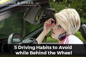 driving habits to avoid
