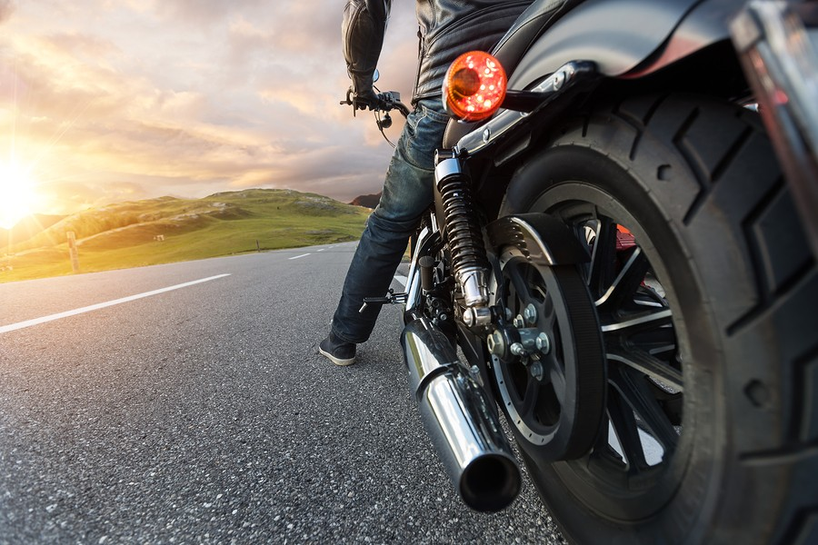 image of motorcycle and driver